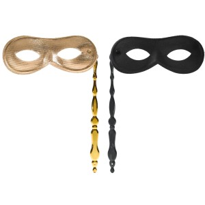 Mask on Stick - Gold