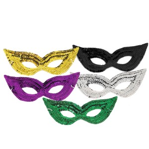 Sequin Eye Mask - Silver