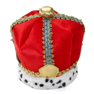 Velvet King Crown Adult - Red / One-Size