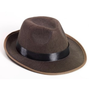 Brown Fedora Adult Hat - Brown / One-Size