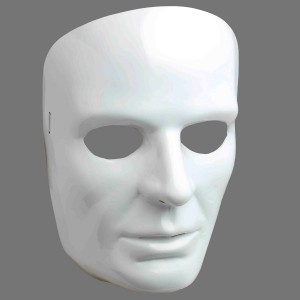 White Face Adult Mask - White / One-Size