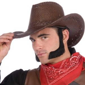 Lambchop Sideburns Adult - Black