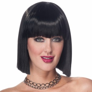 Vibe Black Adult Wig - Black / One-Size