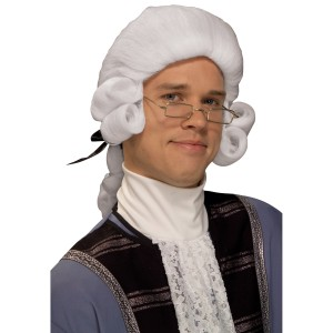 Men's Colonial Adult Wig White
