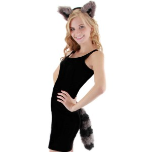 Raccoon Child Accessory Kit - Black/Grey / One-Size
