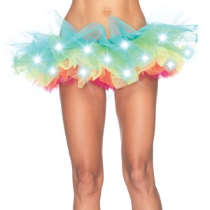 Light Up Rainbow Tutu - Adult - Multi-colored / One-Size (Standard)