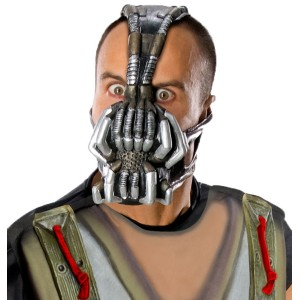 Batman The Dark Knight Rises Bane 3/4 Adult Mask - Gray / One Size