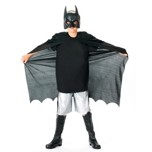 The Dark Knight Rises Batman Cape and Mask Accessory Kit - Black / One-Size