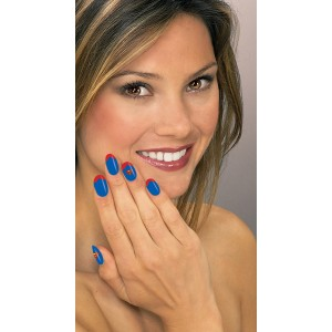 DC Superhereos Supergirl Nail Art Kit - Blue / One-Size