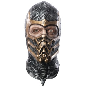 Mortal Kombat Scorpion Adult Mask - Black / One-Size
