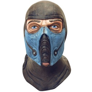 Mortal Kombat Sub-Zero Adult Mask - Black/Blue / One-Size