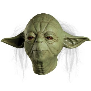 Star Wars Yoda Overhead Latex Mask Adult - Green / One-Size