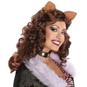 Monster High Clawdeen Wolf Adult Wig - Brown / One-Size