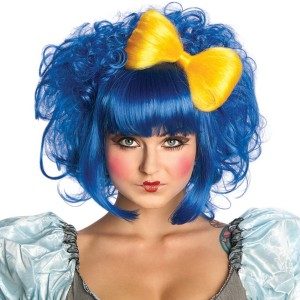 Cutie Doll Blue Adult Wig - Blue / One-Size