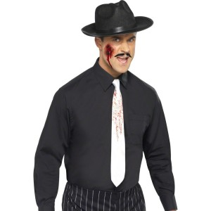 Blood Spattered Tie Adult - White / One-Size