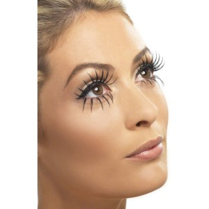 Gothic Manor Ghost Bride Eyelashes Adult - Black / One-Size