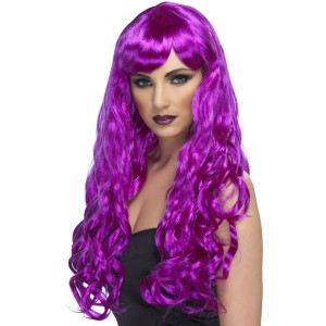 Desire Purple Adult Wig - Purple / One-Size