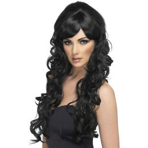 Pop Starlet Black Adult Wig - Black / One-Size