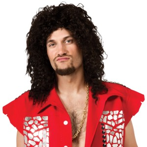 LMFAO Sky Blu Adult Wig - Black/Blue / One-Size