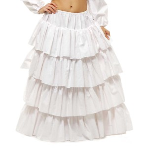 Cotton Petticoat Adult - White / Small/Medium