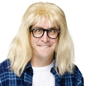 SNL Garth Algar Wig and Glasses Accessory Kit - Blonde / One-Size