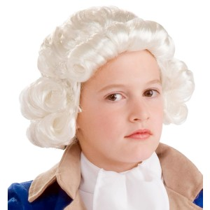 Colonial Boy Child Wig - White / One-Size