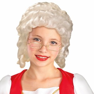 Colonial Girl Child Wig - White / One-Size