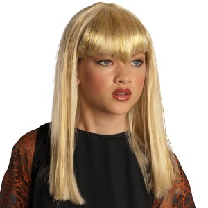 Glitter Vamp Blonde Child Wig - Blonde / One-Size