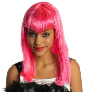 Glitter Vamp Pink Child Wig - Pink / One-Size