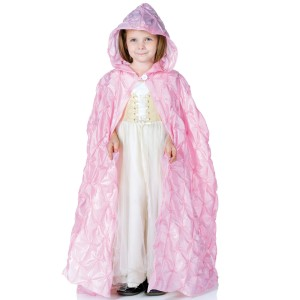 Pink Pintuck Cape Child - Pink / One-Size