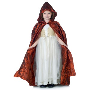 Red Pintuck Cape Child - Red / One-Size