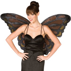 Monarch Butterfly Wings Adult - Orange / One-Size