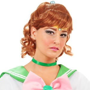 Sailor Moon Sailor Jupiter Wig Adult - Brown / One-Size