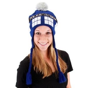 Doctor Who TARDIS Laplander Hat Adult - Blue / One-Size