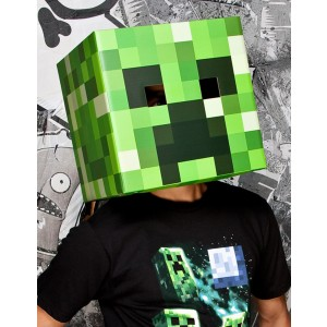 Minecraft Creeper Head Mask Adult - Green / One-Size