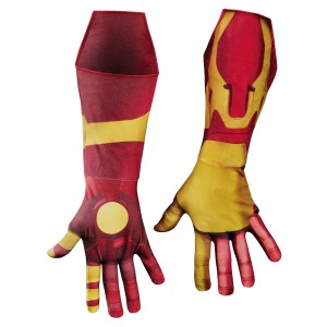 Iron Man 3 Mark 42 Deluxe Adult Gloves - Red/Gold / One-Size