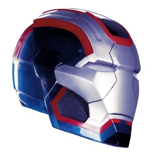Iron Man 3 Patriot Adult Helmet - Blue/Silver / One-Size