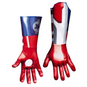 Iron Man 3 Patriot Deluxe Adult Gloves - Red/Blue / One-Size