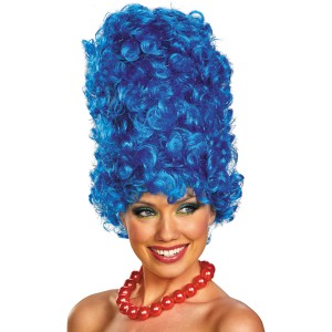 The Simpsons Marge Deluxe Glam Adult Wig - Blue / One-Size