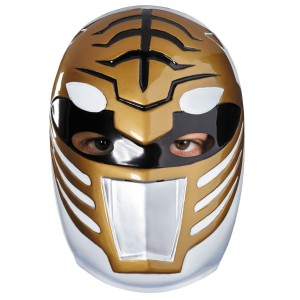 Power Rangers White Ranger Vacuform Mask - White / Adult One-Size