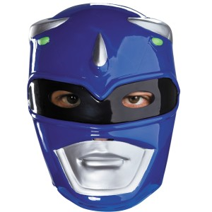 Power Rangers Blue Ranger Vacuform Mask - Blue / Adult One-Size