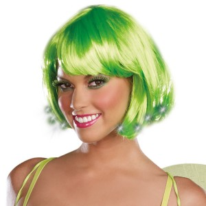 Light Up Pixie Adult Wig - Green / One-Size