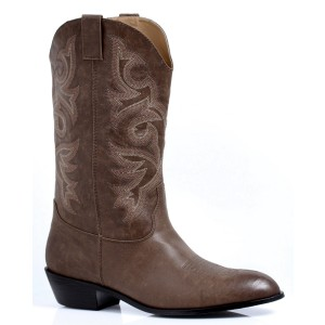 Men's Adult Brown Cowboy Boots - Brown / Small (8/9)
