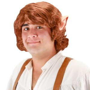 The Hobbit Bilbo Baggins Wig With Ears - Red / One-Size