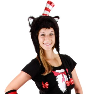 Cat In The Hat Hoodie Hat - Red / One-Size