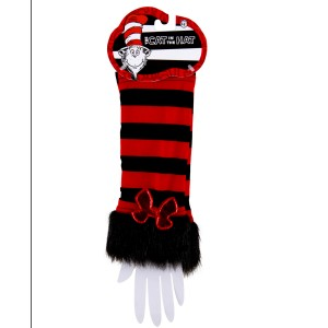 Cat In The Hat Fuzzy Glovettes - Red / One-Size