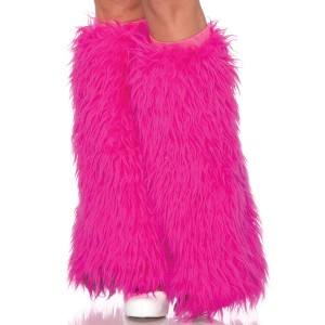 Furry Neon Pink Leg Warners