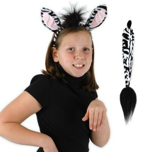 Zebra Ears and Tail Kit - One-Size