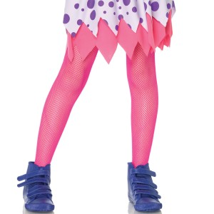 Children's Fishnet Tights - Pink / Medium (4/6)