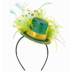 St. Patrick's Day Feathered Headband - Green / One-Size